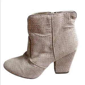 Shoemint Nadine Rhinestone Booties   6.5